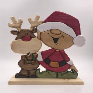 Baby Babbo Natale con renna