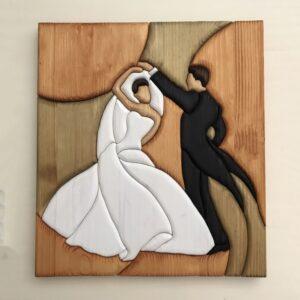 Quadro Coppia di Sposi danzanti