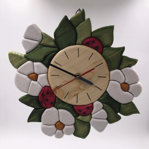 Orologio con fiori di fragola