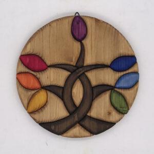 Albero della vita con colori del Chakra 5