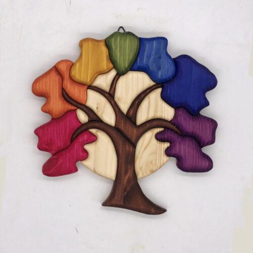Albero della vita con colori del Chakra 7