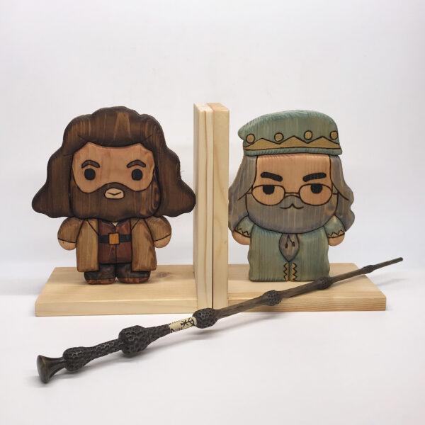 Fermalibri in legno a tema Harry Potter
