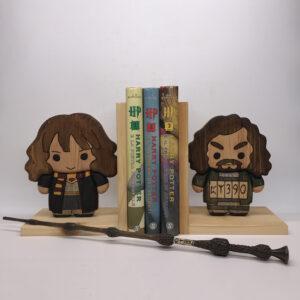Fermalibri in legno a tema Harry Potter, Hermione/Sirius