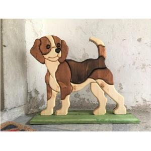 Cane Beagle furi porta