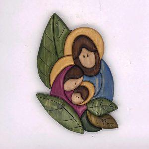 Sacra Famiglia con foglie